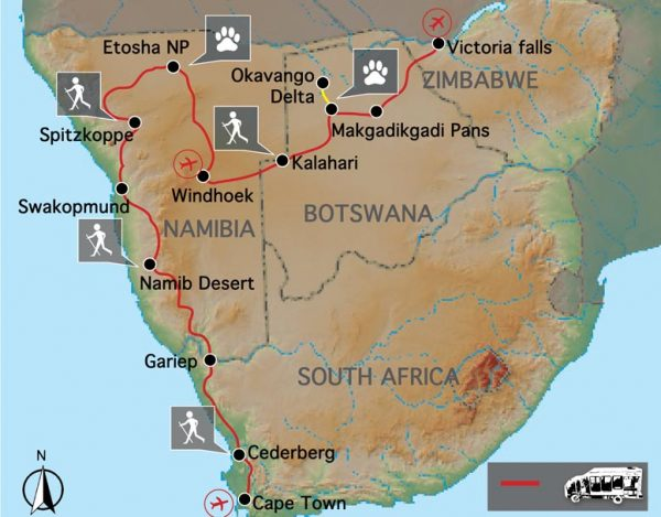 Namibie Botswana Cape to Vic Falls