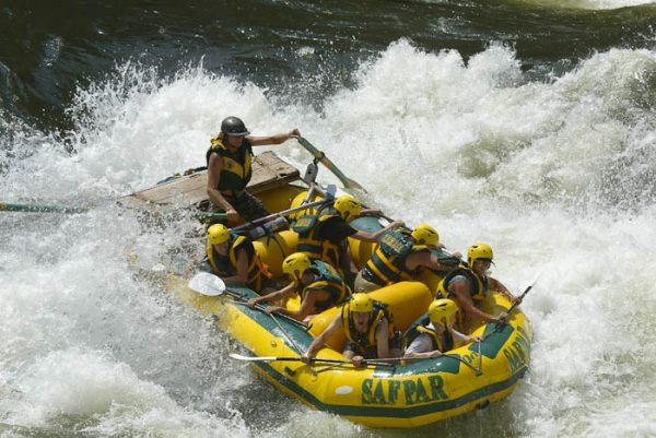 Victoria Falls rafting on the Zambezi