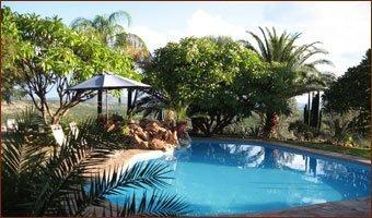 Zwembad bij Bambatsi Guest Farm