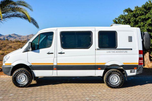Comfortabele safari bus Namibië