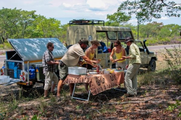 roadside picnic lunch in zambia