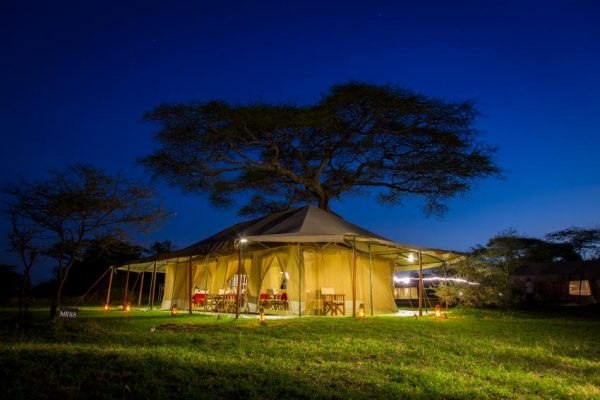 Tented safari camp in de Serengeti