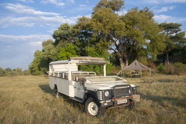 Safari voertuig kampeersafari Chobe en Moremi