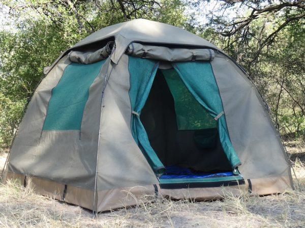 Tent tijdens een kampeersafari Botswana